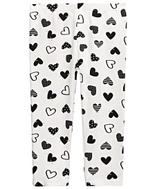 Baby Girls Heart Leggings, Created For Macy's