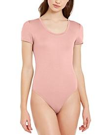 Scoop-Neck Thong Bodysuit