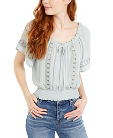 Juniors' Crochet Blouse