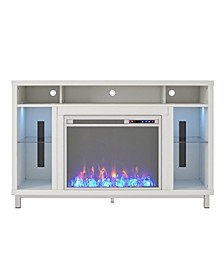 """Cyno Fireplace Tv Stand For Tvs Up To 48"""""""