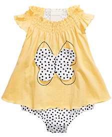 Baby Girls Butterfly Skirted Romper, Created For Macy's