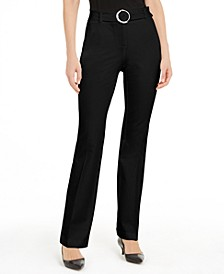 Belted Straight-Leg Pants, Created for Macy's