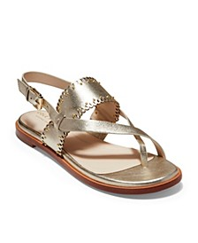 Anica Scallop Thong Sandals