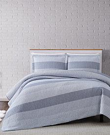 Truly Soft Multi Stripe Full/Queen Quilt Set