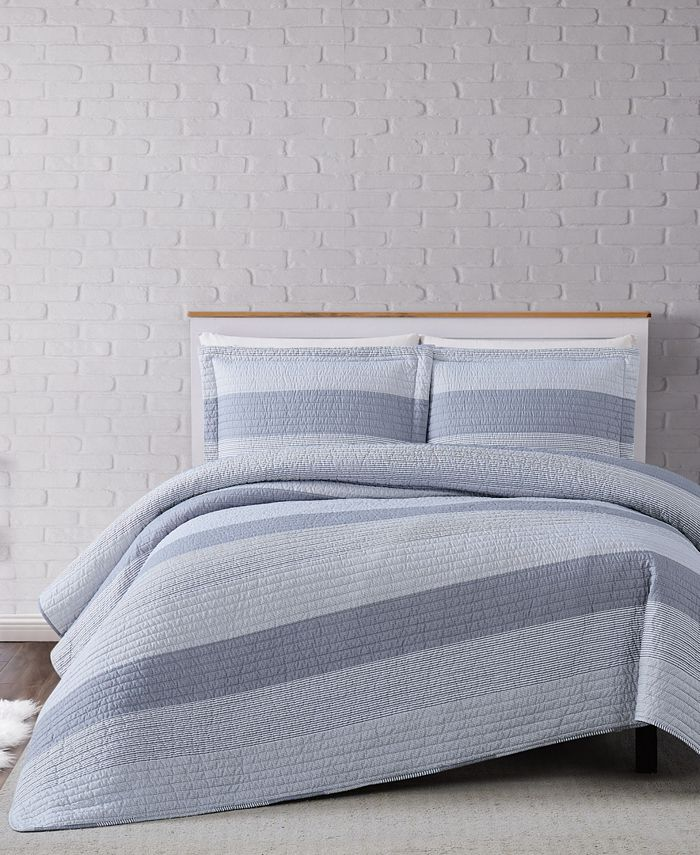 Truly Soft - Multi Stripe Quilt Set