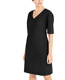 V-Neck Puff-Sleeve A-Line Dress, Created for Macy's