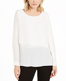 Asymmetrical-Overlay Blouse, Created For Macy's