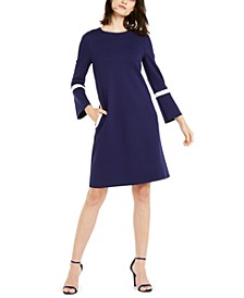 Bell-Sleeve Knit Dress