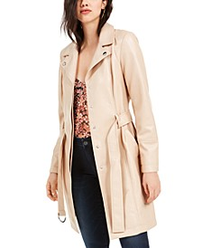 Spinx Faux Leather Trench Coat