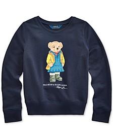 Big Girls Raincoat Bear Terry Pullover