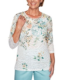 Cottage Charm Floral Print Top