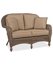 Sandy Cove Wicker Outdoor Loveseat: Custom Sunbrella®, Created for Macy's