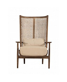 Accent Chair with Handwoven Cane
