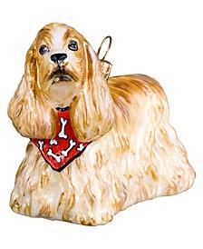 Cocker Spaniel Blond with a Bandana