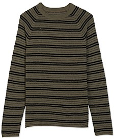 Men's Regular-Fit Bouclé Stripe Sweater