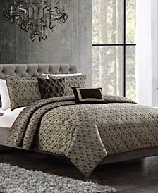 Torcido 6-Pc. Queen Duvet Cover with Filler Set