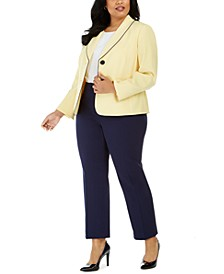 Plus Size Slim-Leg Pants Suit