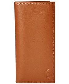 Men's Burnished Leather Narrow Wallet