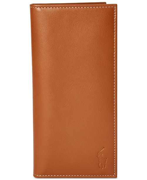 Polo Ralph Lauren Men's Burnished Leather Narrow Wallet