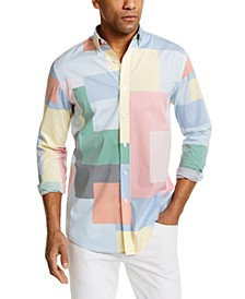 Men's Patchwork Stripe Shirt, Created for Macy's