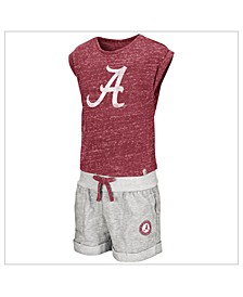 Toddlers Alabama Crimson Tide Cuffed Tee and Short Set