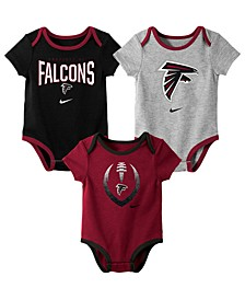 Baby Atlanta Falcons Icon 3 Pack Bodysuit Set