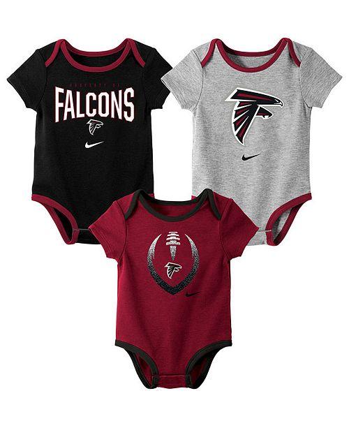 Nike Baby Atlanta Falcons Icon 3 Pack Bodysuit Set
