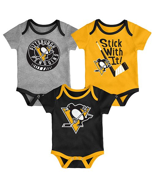Outerstuff Baby Pittsburgh Penguins Cuddle & Play Creeper Set