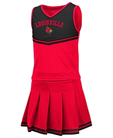 Big Girls Louisville Cardinals Pinky Cheer Set