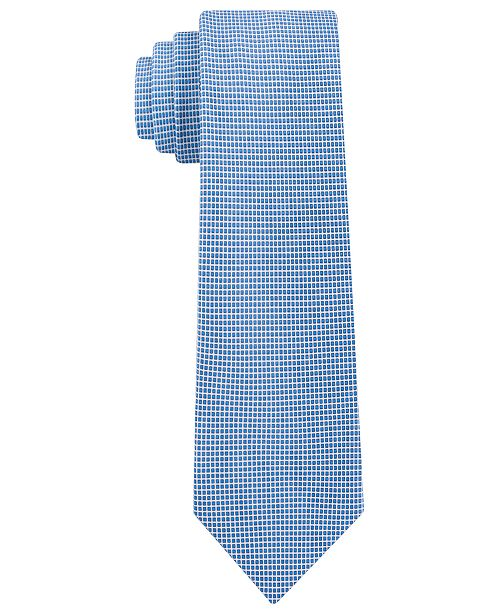 Calvin Klein Men's Micro Squares Skinny Silk Tie