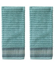 Water Stripe 2-Pc. Hand Towel Set