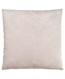 Feathered Velvet Pillow