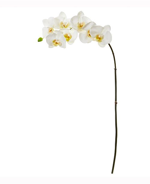 Nearly Natural 32in. Phalaenopsis Orchid Artificial Flower Set of 6