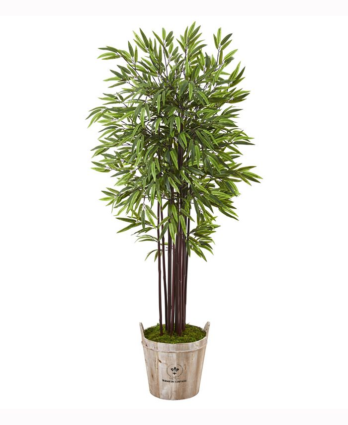 Nearly Natural - 5.5ft. Bamboo Artificial Tree in Farmhouse Planter