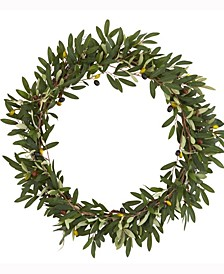 23in. Olive Artificial Wreath