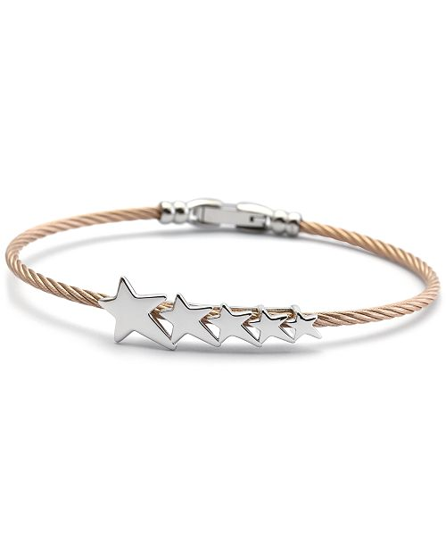 CHARRIOL Star Cable Bangle Bracelet in Stainless Steel & Rose Gold-Tone PVD
