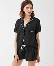 Women's Notch Collar Shortie Pajama Set, Online Only