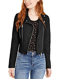 CoffeeShop Juniors' Faux-Leather Jacket