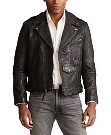 폴로 랄프로렌 Polo Ralph Lauren Mens Leather Biker Jacket,Black