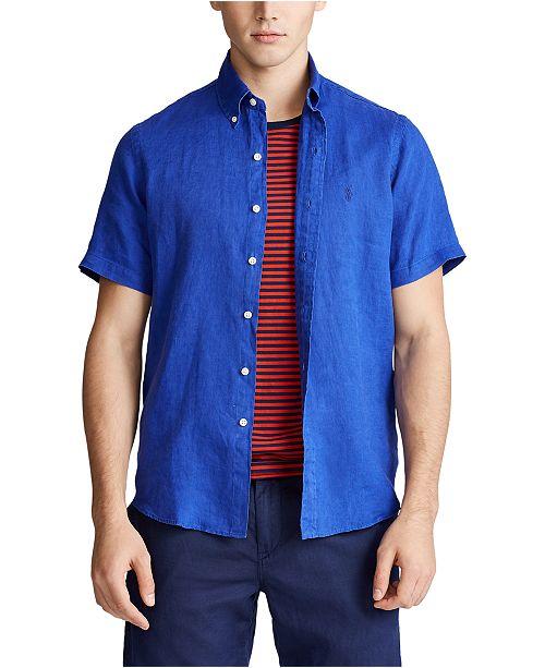 Polo Ralph Lauren Men's Short-Sleeve Linen Button-Up