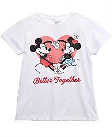 Little Girls Mickey & Minnie Better Together T-Shirt