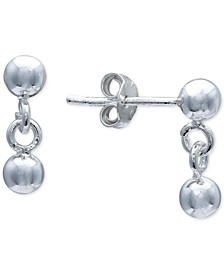 Polished Ball Drop Earrings in Sterling Silver, Created For Macy's