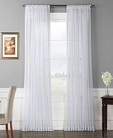Extra Wide Solid Voile Poly Sheer Curtain Panel