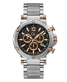 Gc Men's Spirit Chrono Stainless Steel Bracelet Watch 44mm