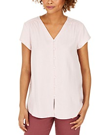 Button-Down Flutter-Sleeve Top, Created for Macy's