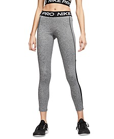 Women's Pro Dri-FIT Mesh-Trimmed Leggings