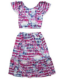 Big Girls 2-Pc. Tie-Dye Top & Skirt Set