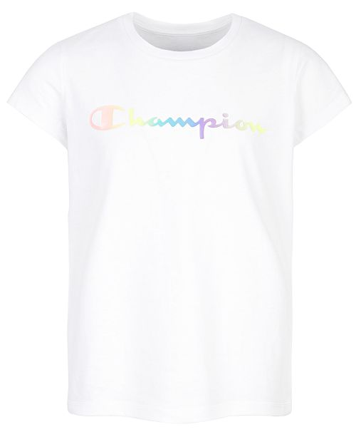 Champion Big Girls Ombré Logo T-Shirt