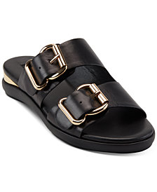 DKNY Canya Double Banded Flat Sandals