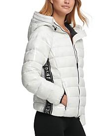 High-Shine Puffer Jacket